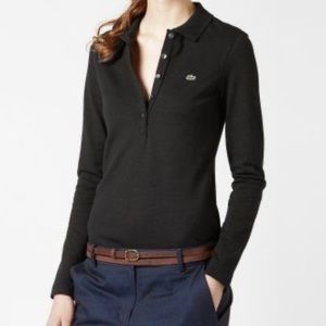 Lacoste slim fit long sleeve polo